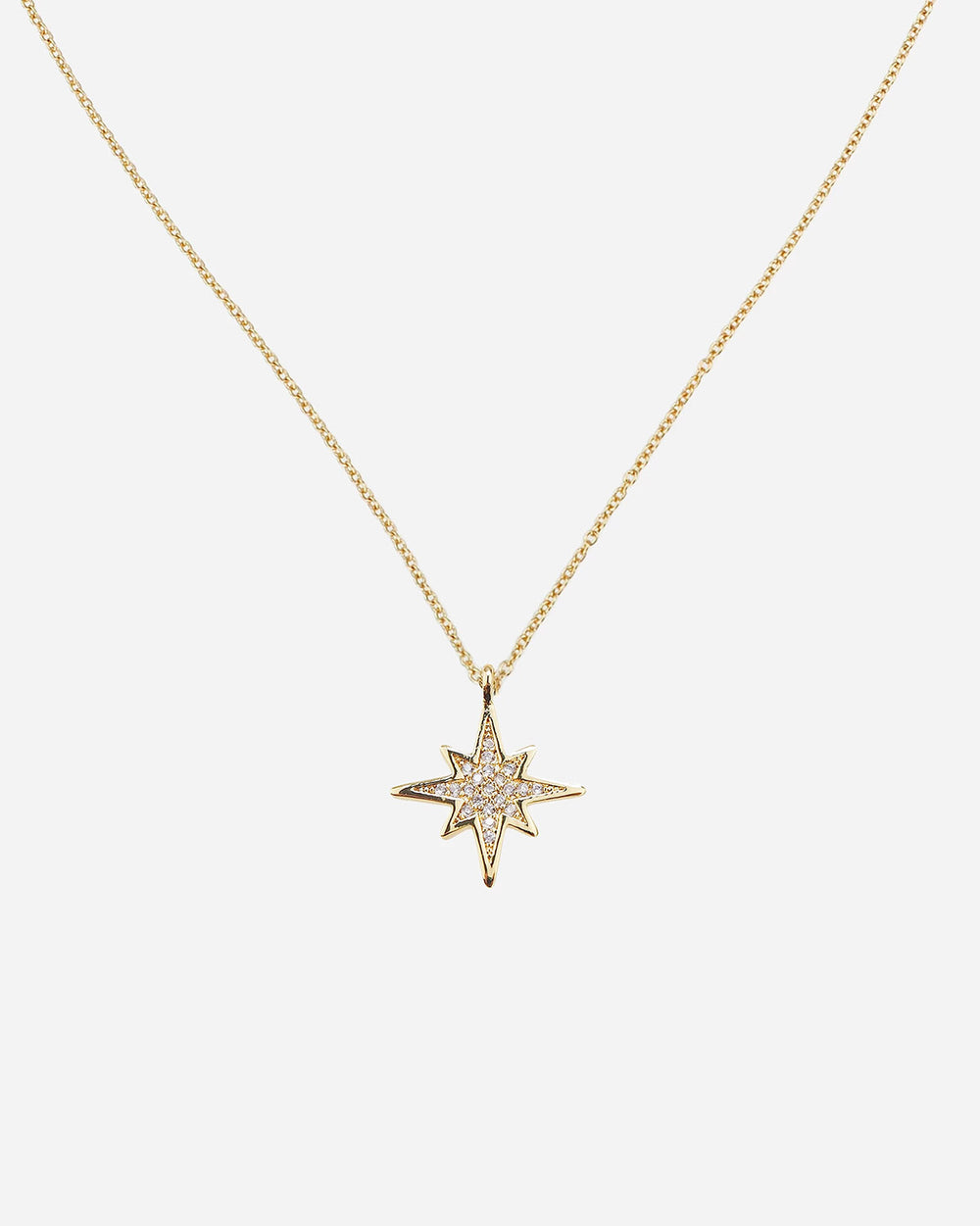 Bette Delicate Pavé Star Necklace