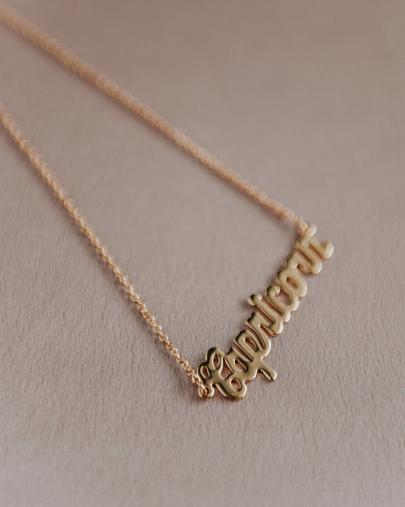 Capricorn Zodiac Nameplate Necklace