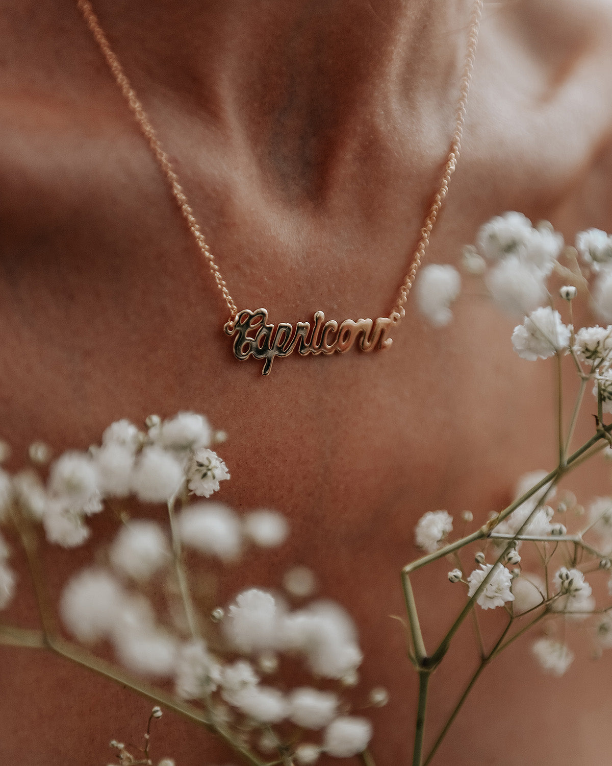 Image of Capricorn Zodiac Nameplate Necklace