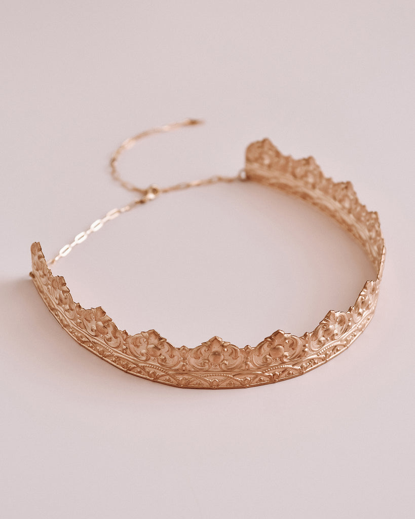 Cara Brass Crown Headband