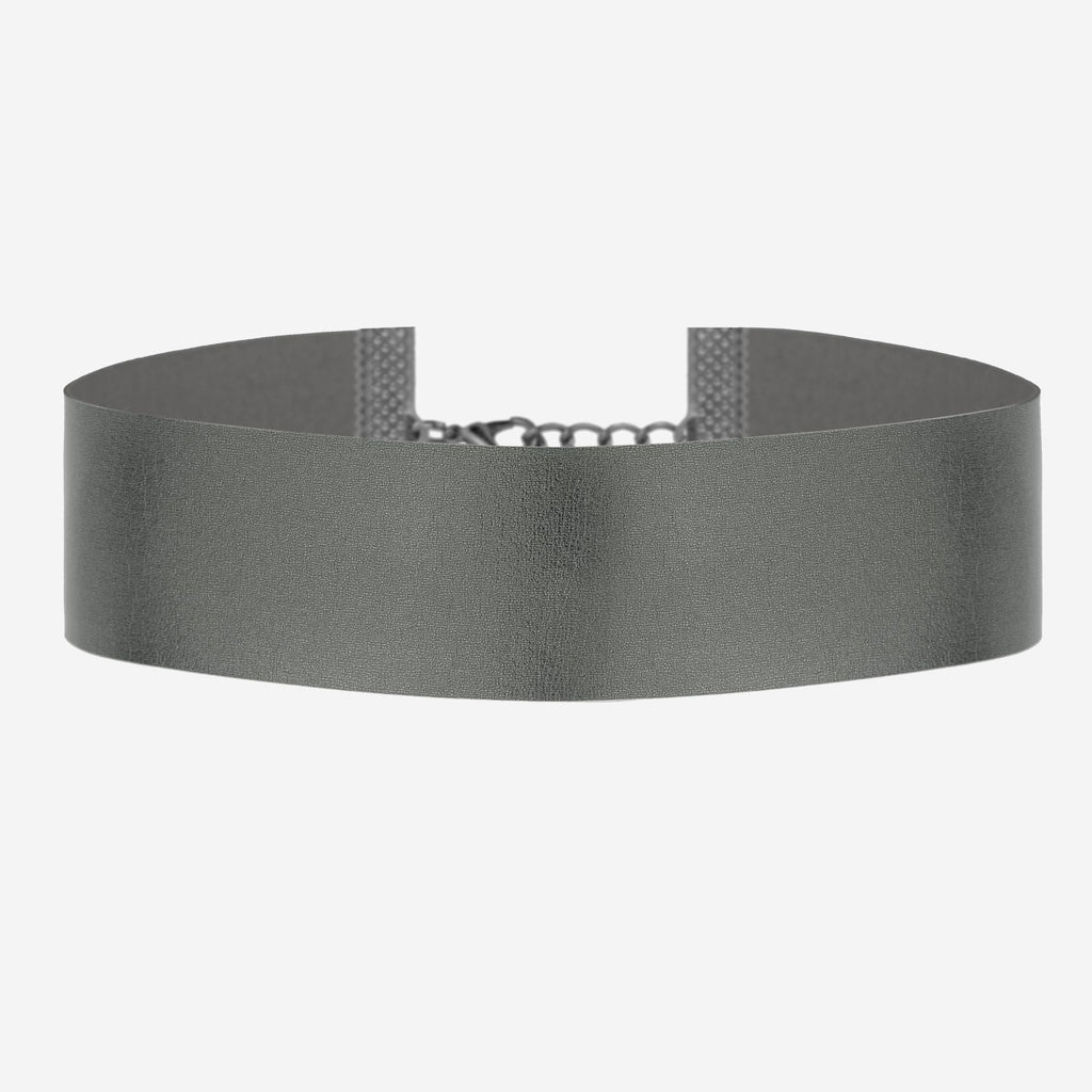 Image of DAWN Wide Metallic Black Choker
