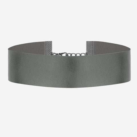 DAWN Wide Metallic Black Choker