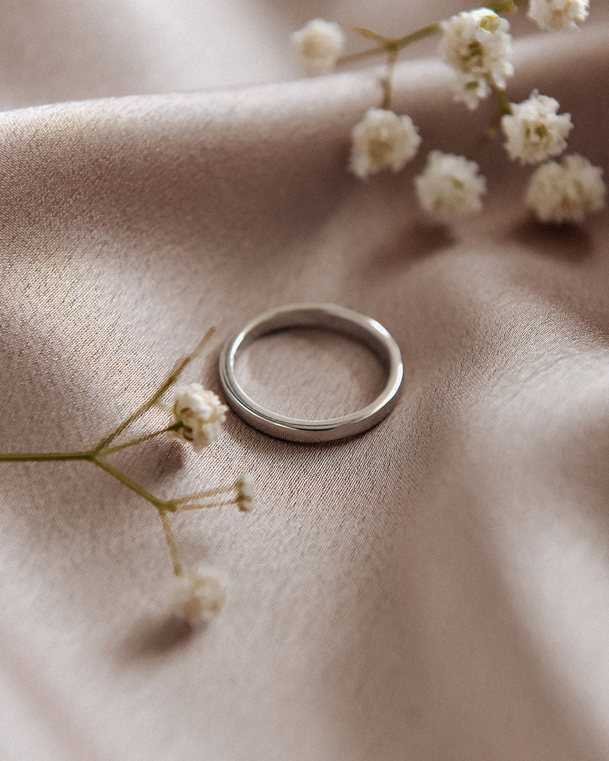 Alexa Sterling Silver Simple Band Ring