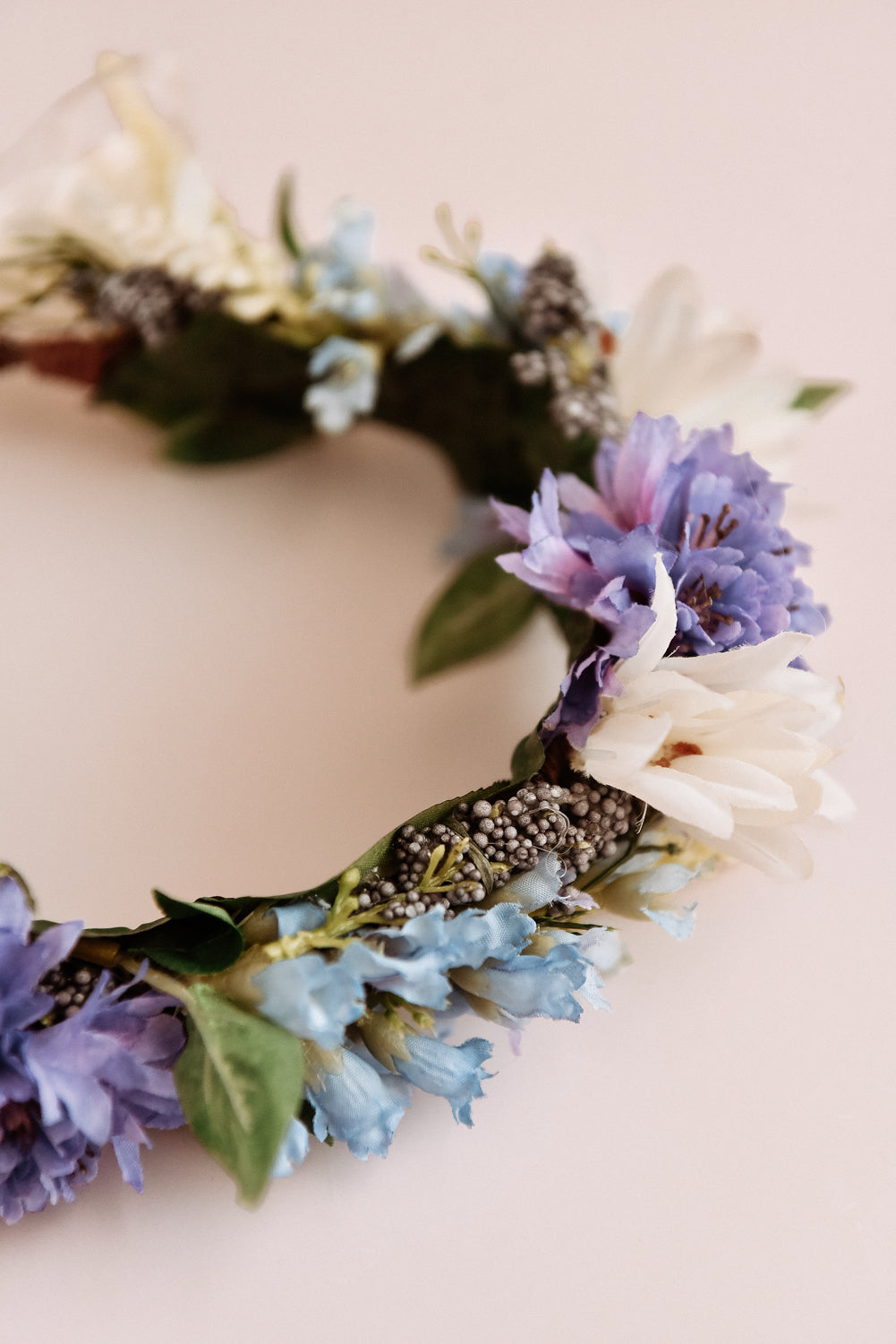 Violet Floral Meadow Crown Headband