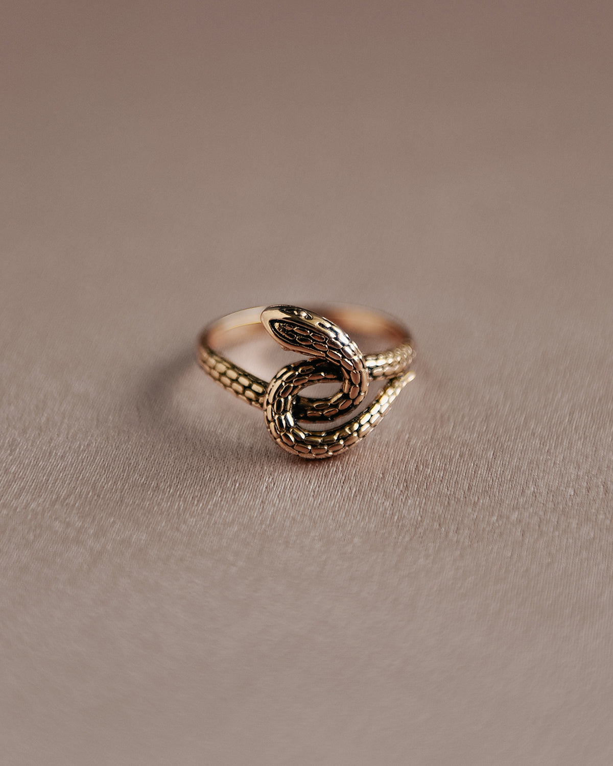 Sunday Sterling Silver Snake Ring - Gold Plated