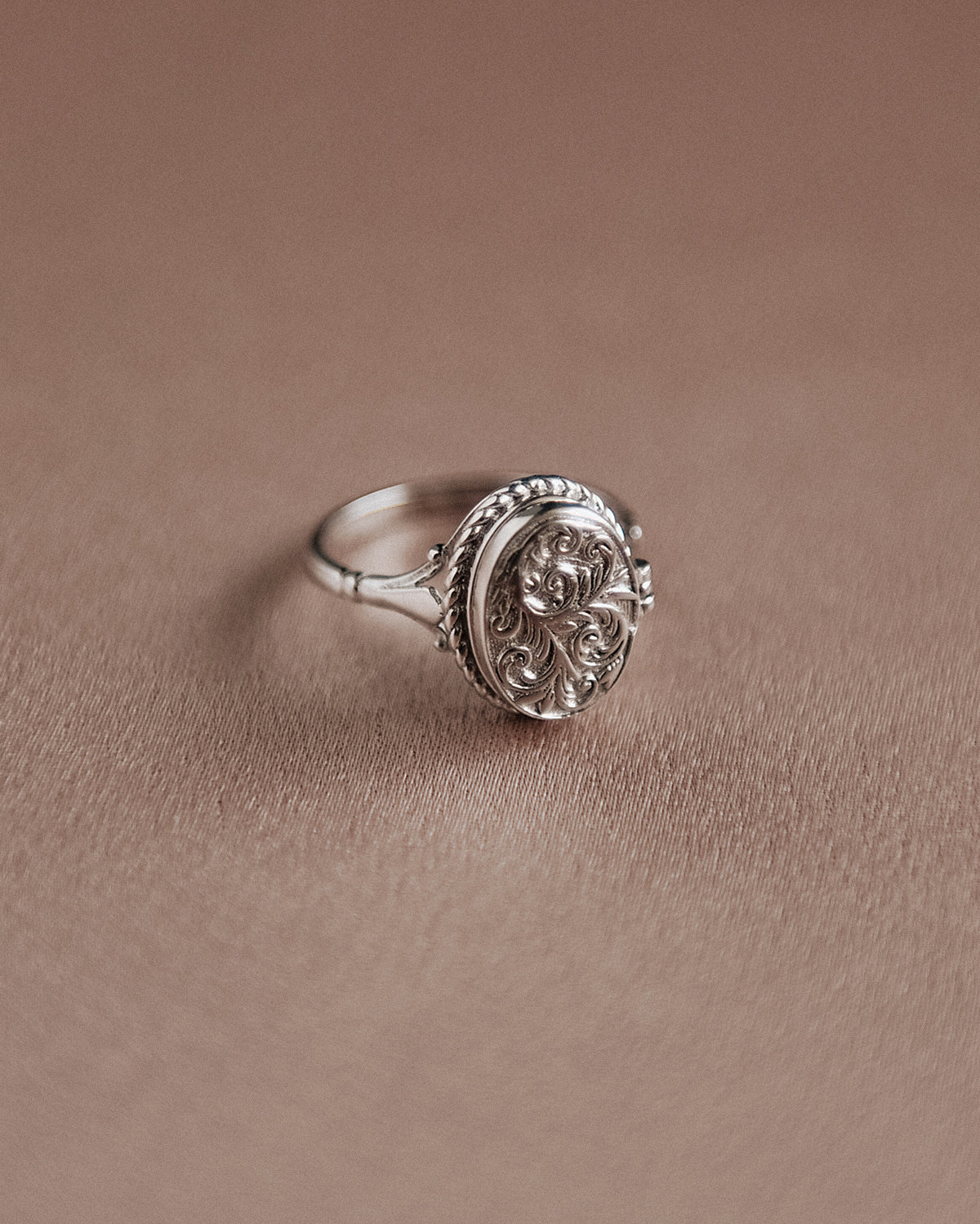 Image of Claudia Sterling Silver Locket Ring
