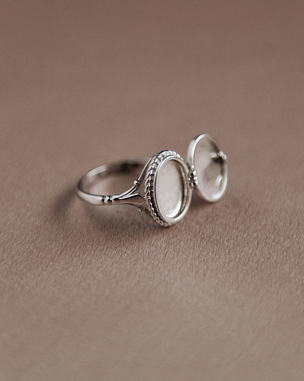 Claudia Sterling Silver Locket Ring