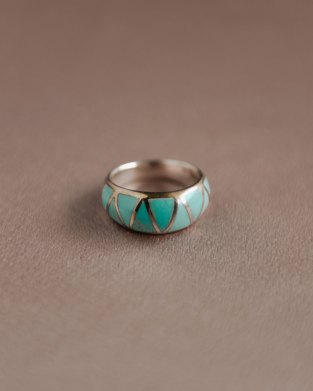 Image of Ingrid Sterling Silver Turquoise Ring