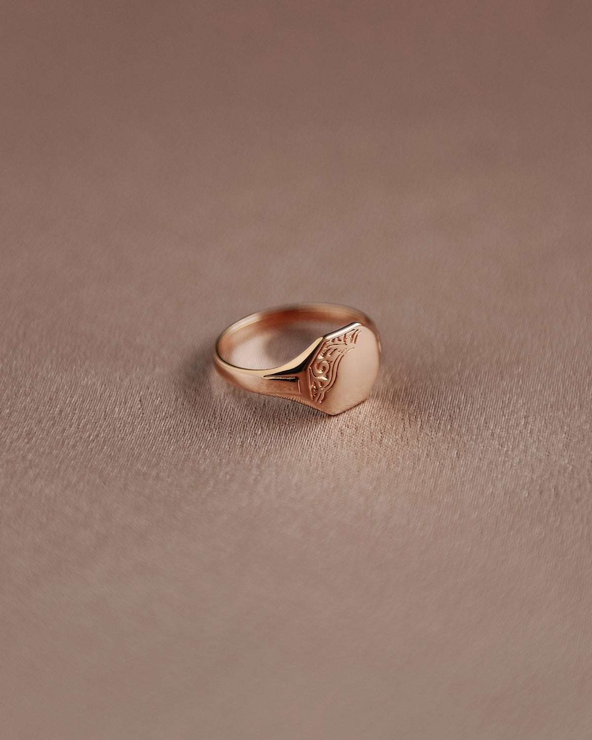 Image of George Sterling Silver Signet Pinky Ring - Gold Plated