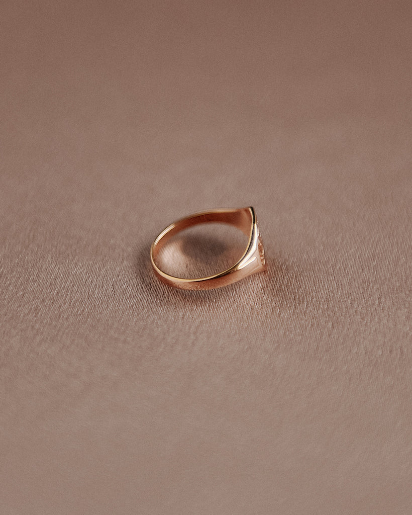 George Sterling Silver Signet Pinky Ring - Gold Plated