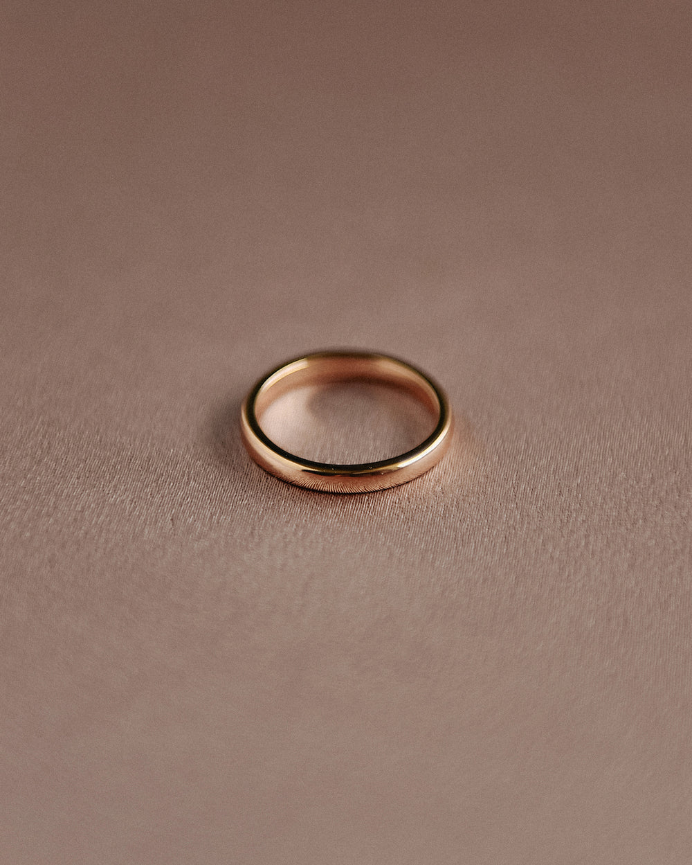 Alexa Sterling Silver Simple Band Ring - Gold Plated