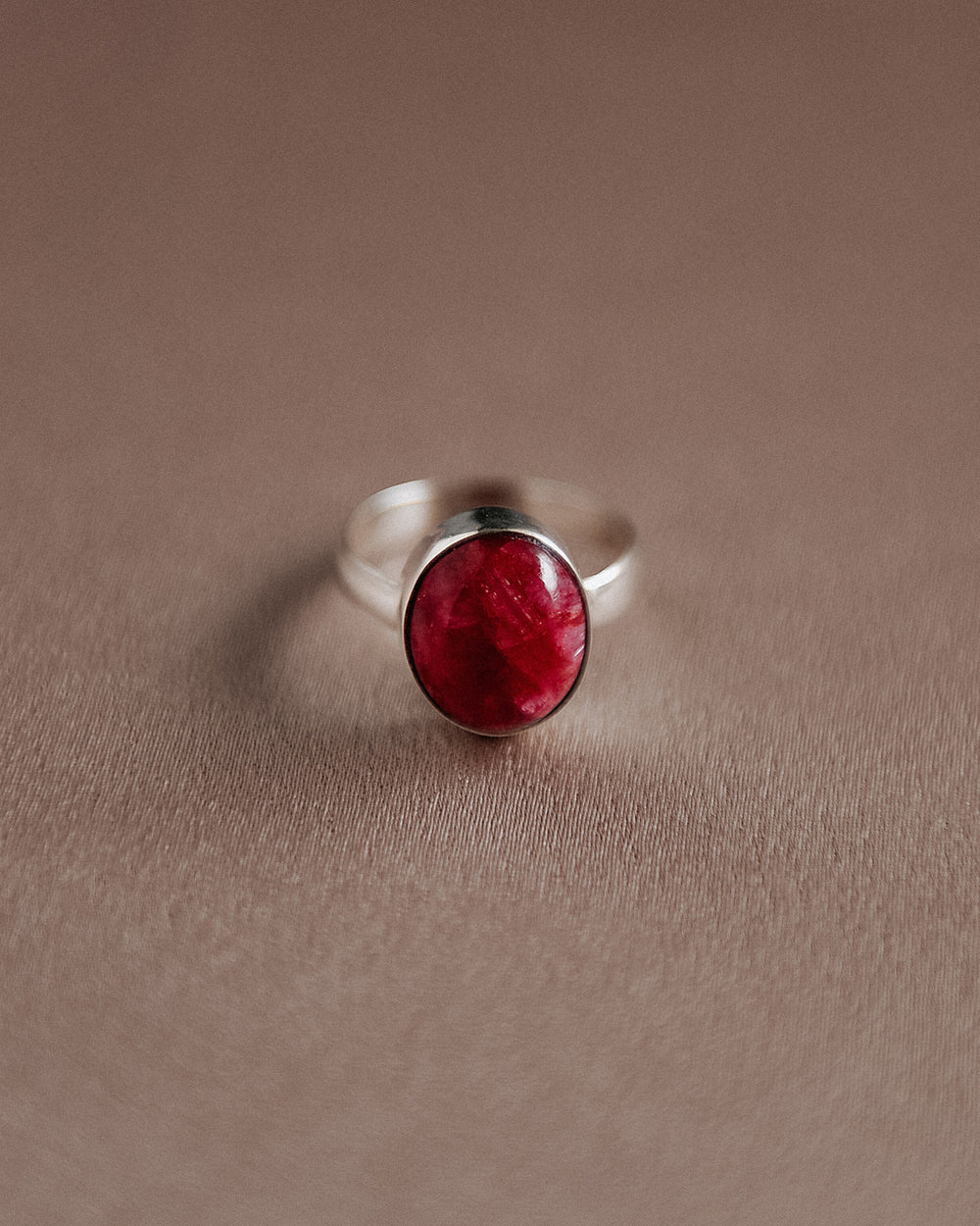 Ebba Sterling Silver Gemstone Ring - Ruby