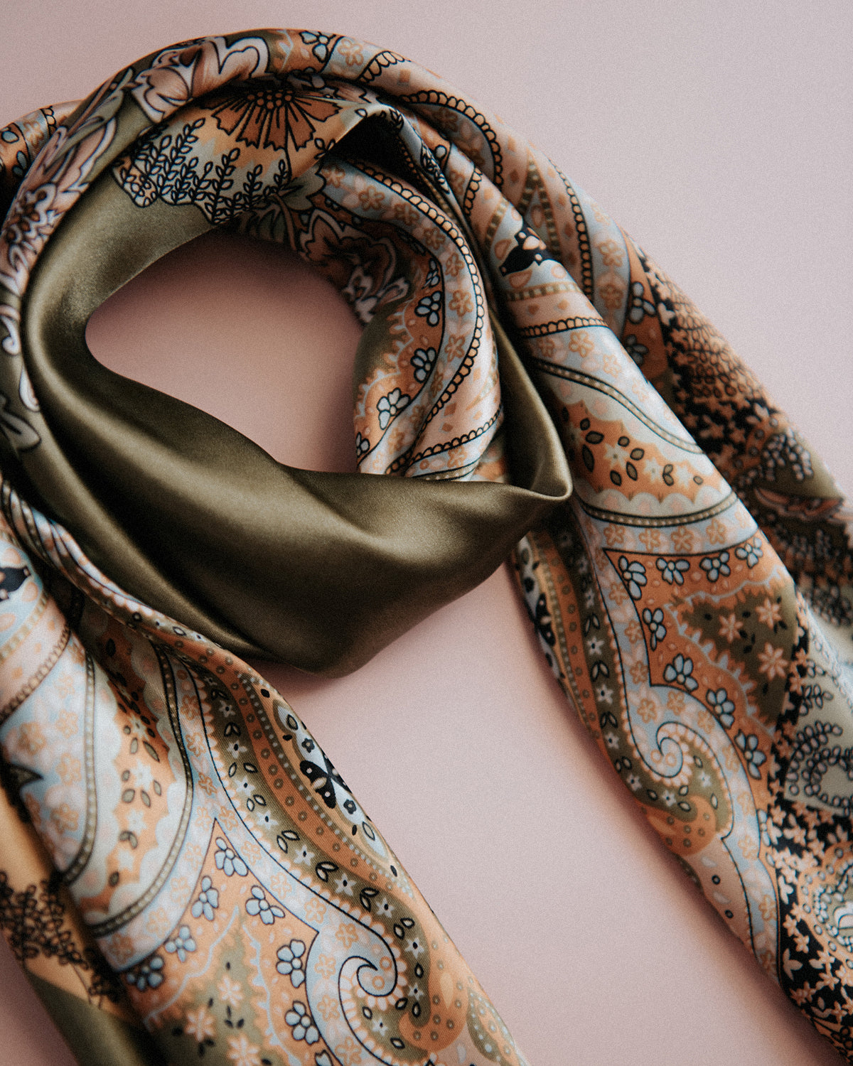 Rhea Silk Hair Scarf