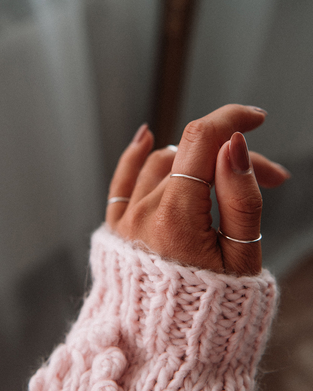 Sara Sterling Silver Simple Band Ring