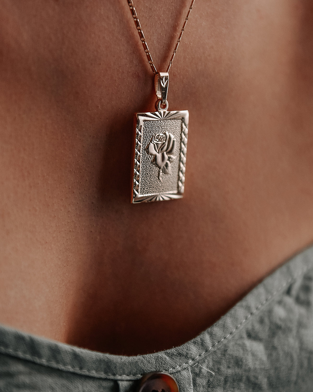 Image of Everly Rose Pendant Necklace