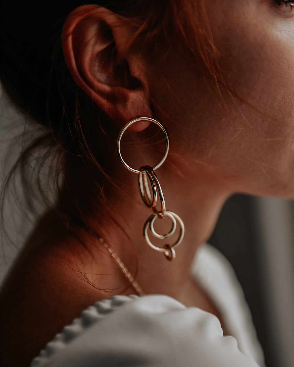 Carmen Multi Hoop Drop Earrings