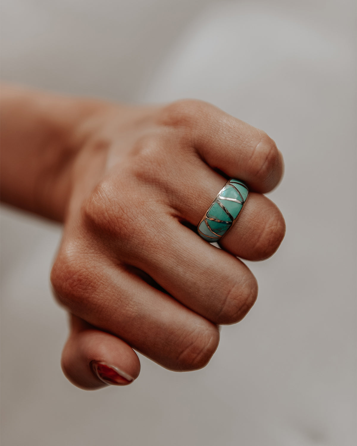 Ingrid Sterling Silver Turquoise Ring