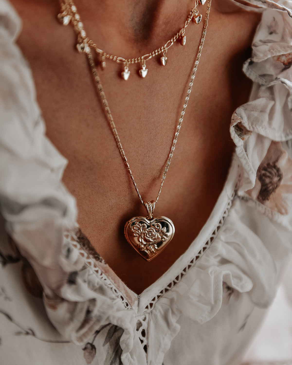 Image of Valentina Heart Locket Necklace