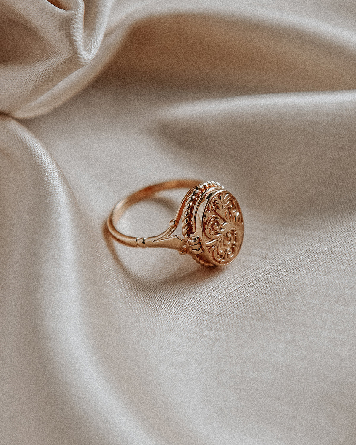 Image of Claudia Gold Vermeil Locket Ring