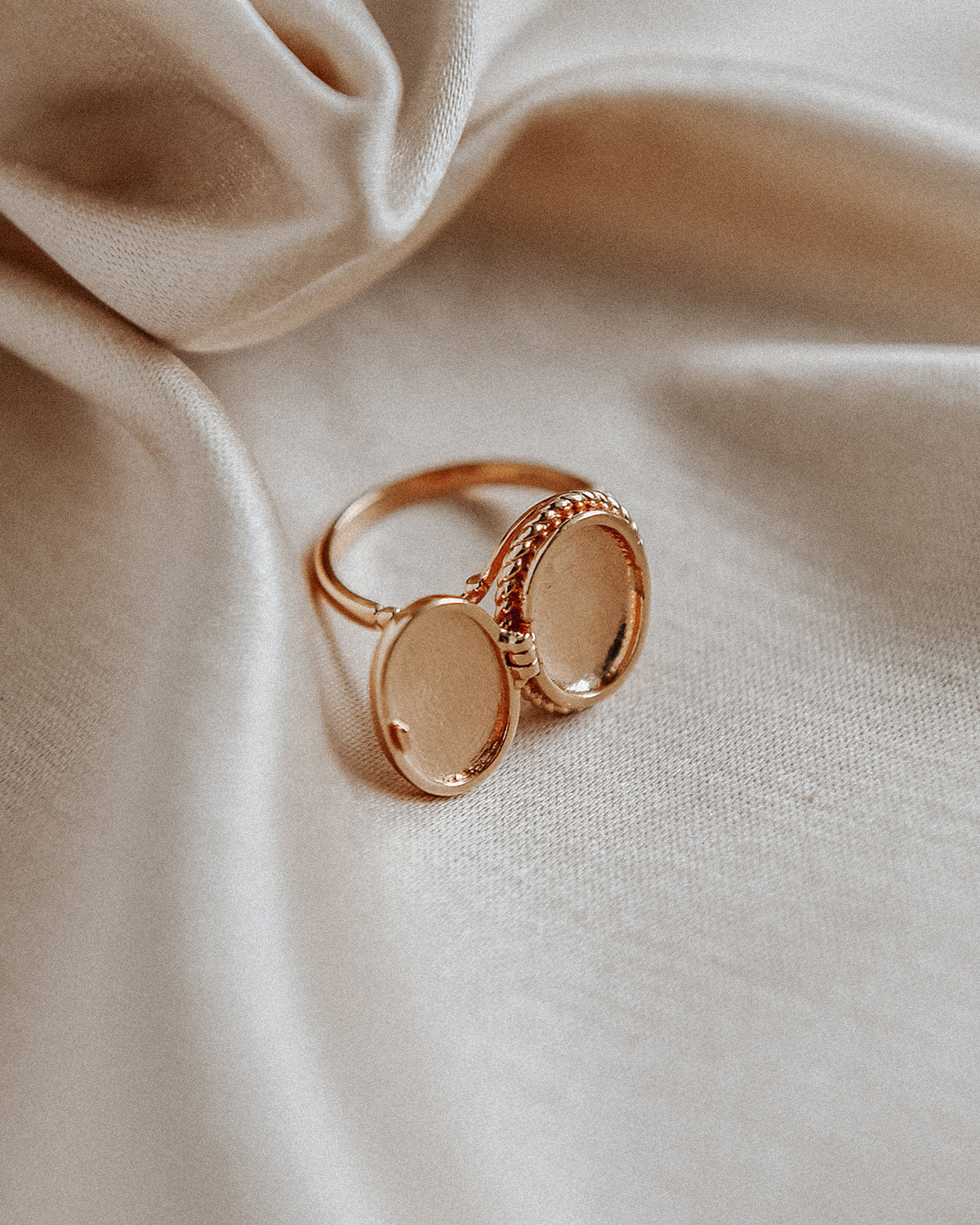 Claudia Gold Vermeil Locket Ring