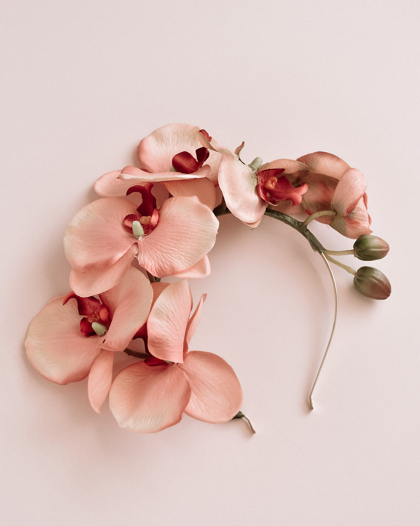 Delaney Orchid Crown - Pink