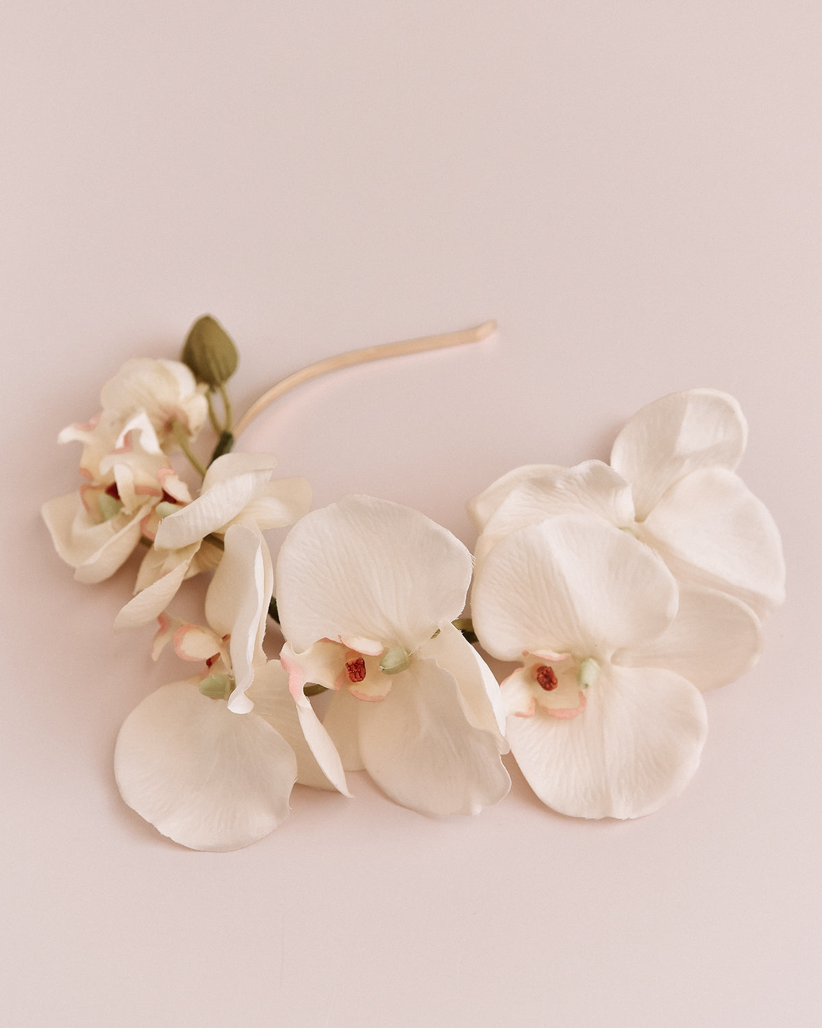 Image of Delaney Orchid Crown Headband - White