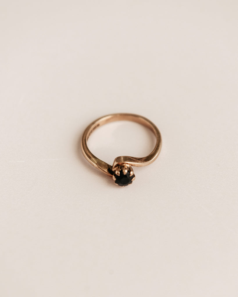 Rumer Exclusive Vintage 9ct Gold Sapphire Ring