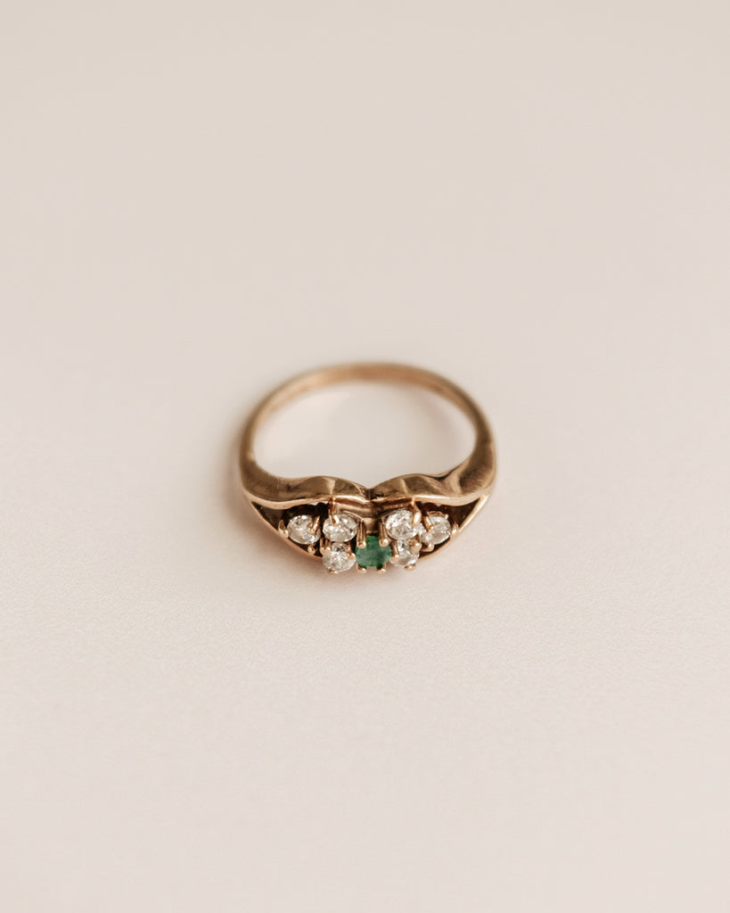 Robin Exclusive Vintage 9ct Gold Emerald Ring