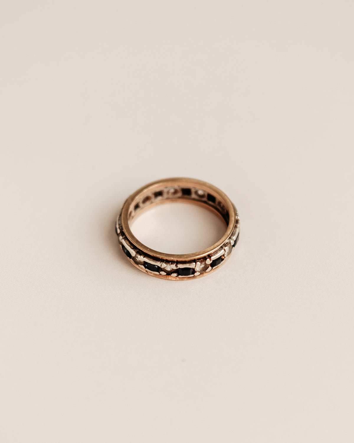 Image of Mae Exclusive Vintage 9ct Gold Sapphire Eternity Ring