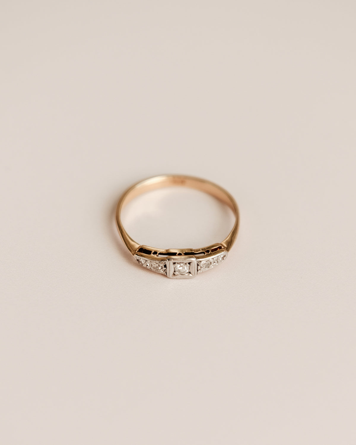 Image of Clemence 18ct Gold Diamond Ring