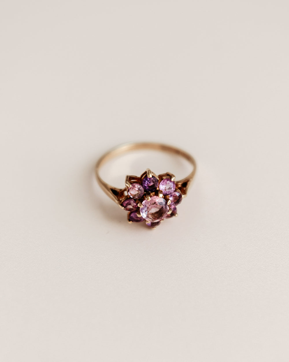 Marnie Exclusive Vintage 9ct Gold Amethyst Ring