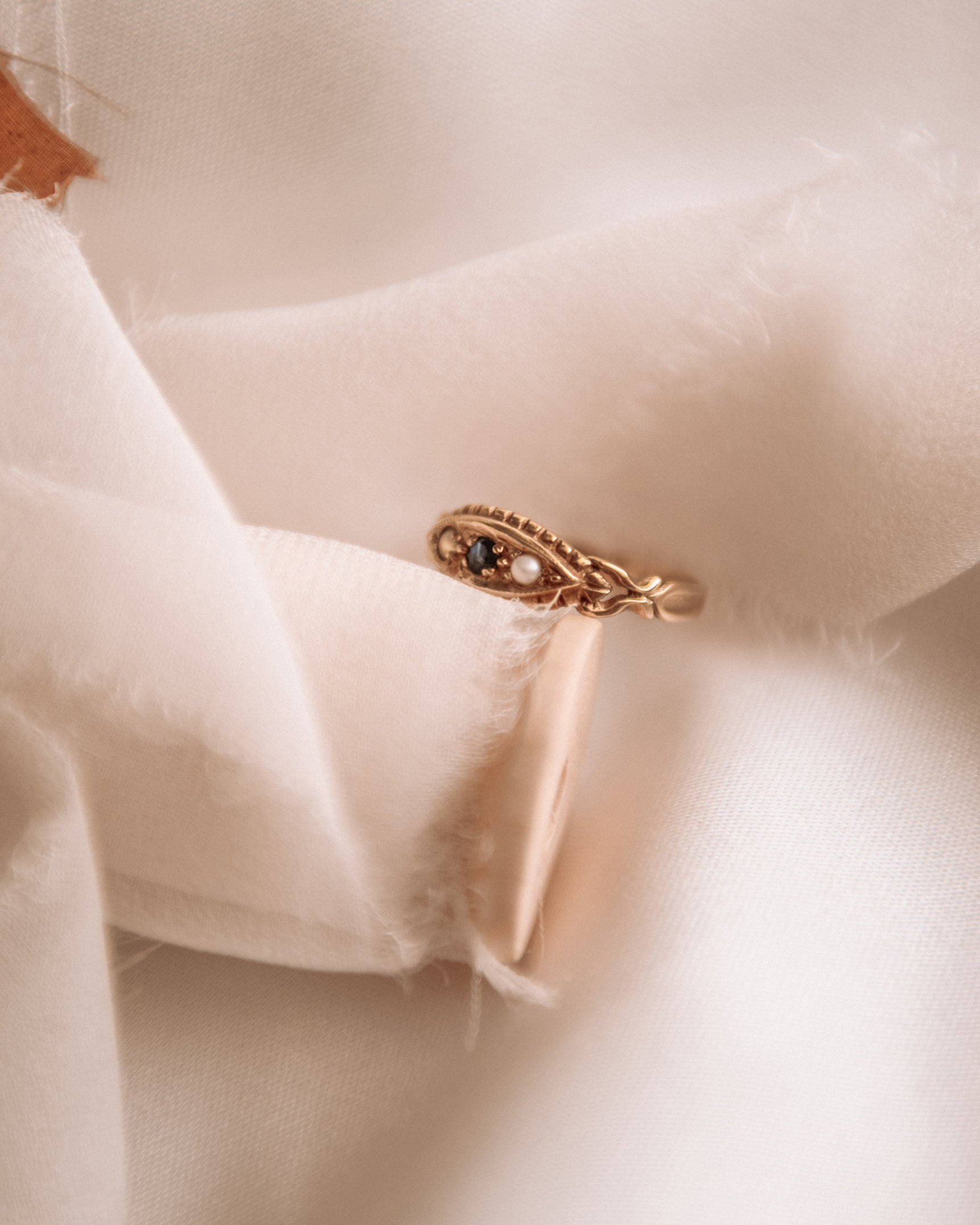 Rosalind 9ct Gold Sapphire & Pearl Ring