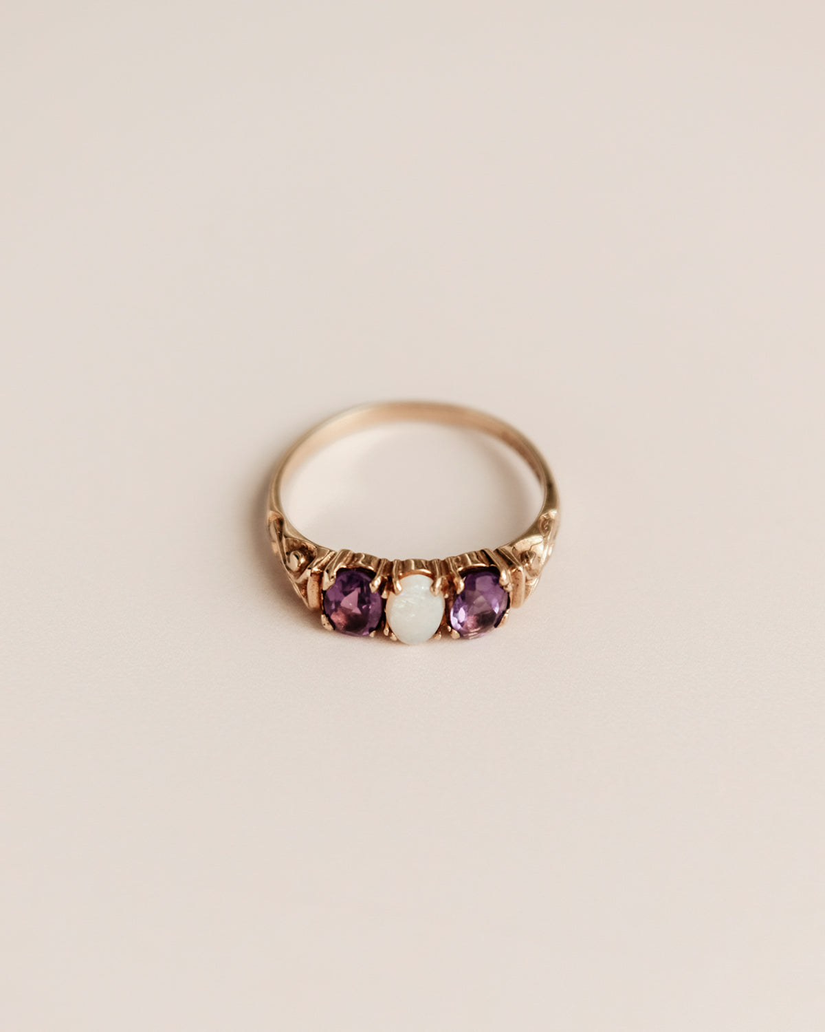 Image of Erin 9ct Gold Opal & Amethyst Ring