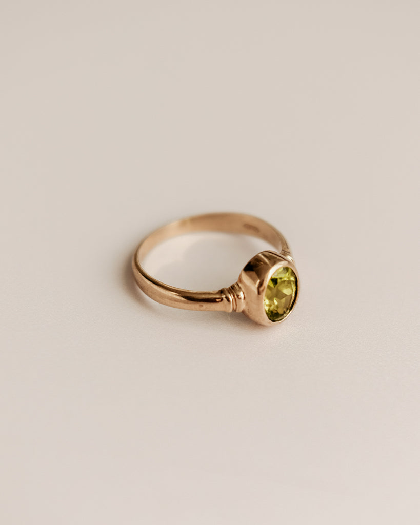 Caterina 9ct Gold Peridot Ring