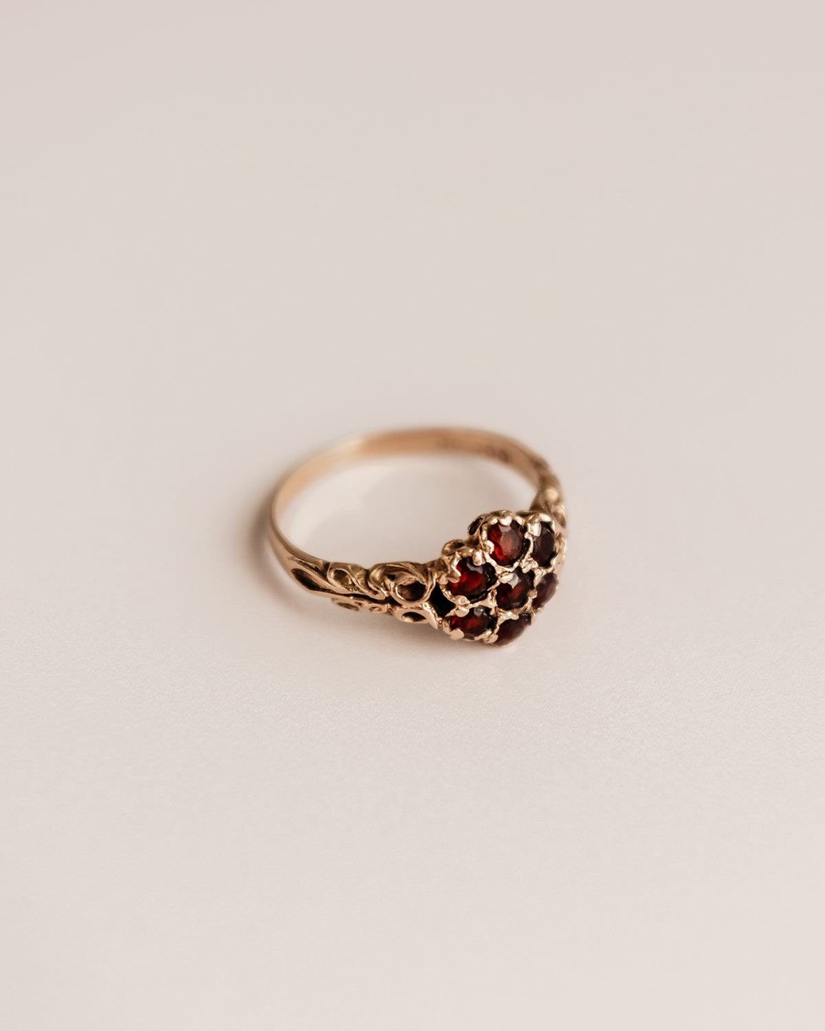 Image of Erica 9ct Gold Garnet Cluster Ring