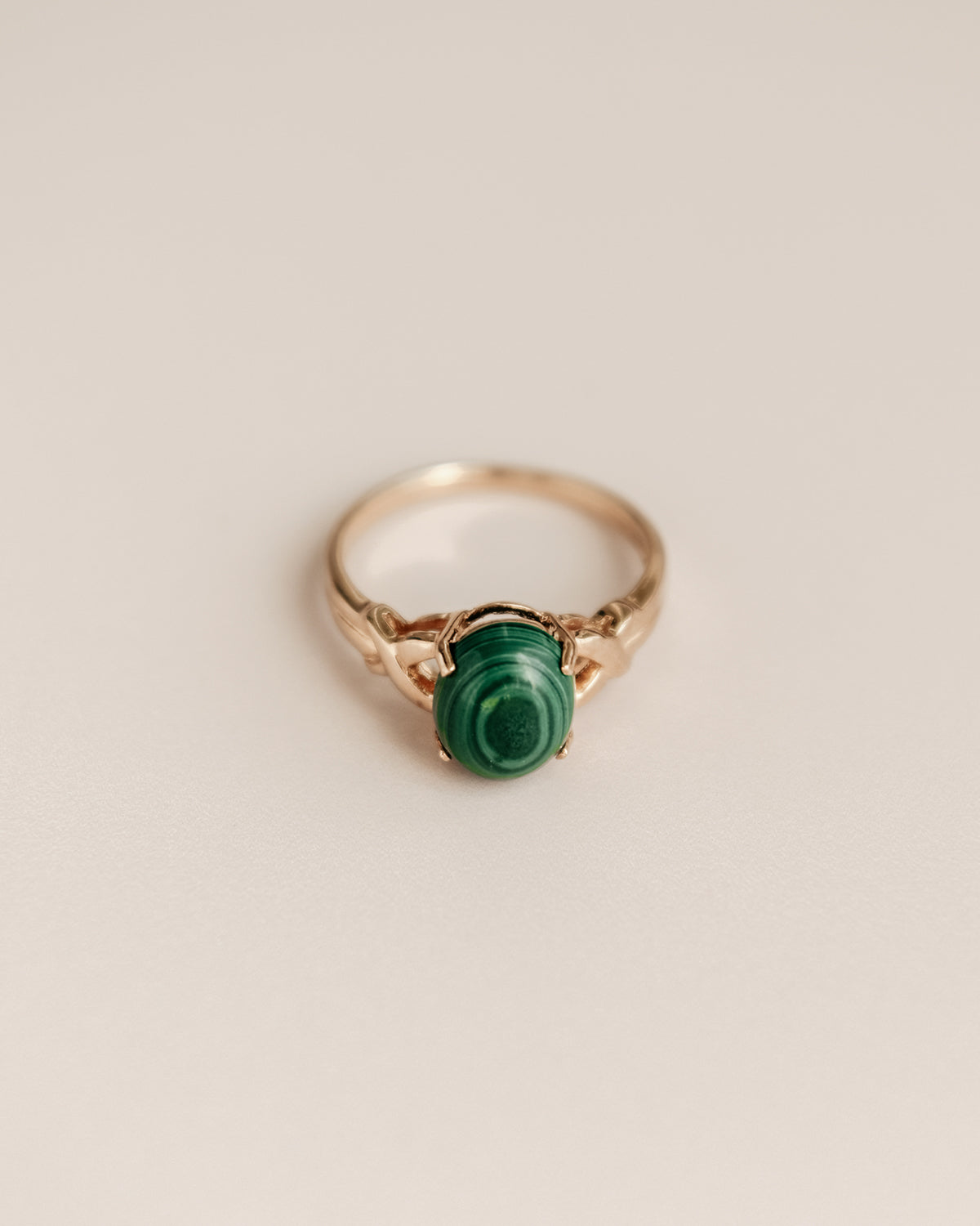 Image of Ramona Exclusive Vintage 9ct Gold Malachite Ring