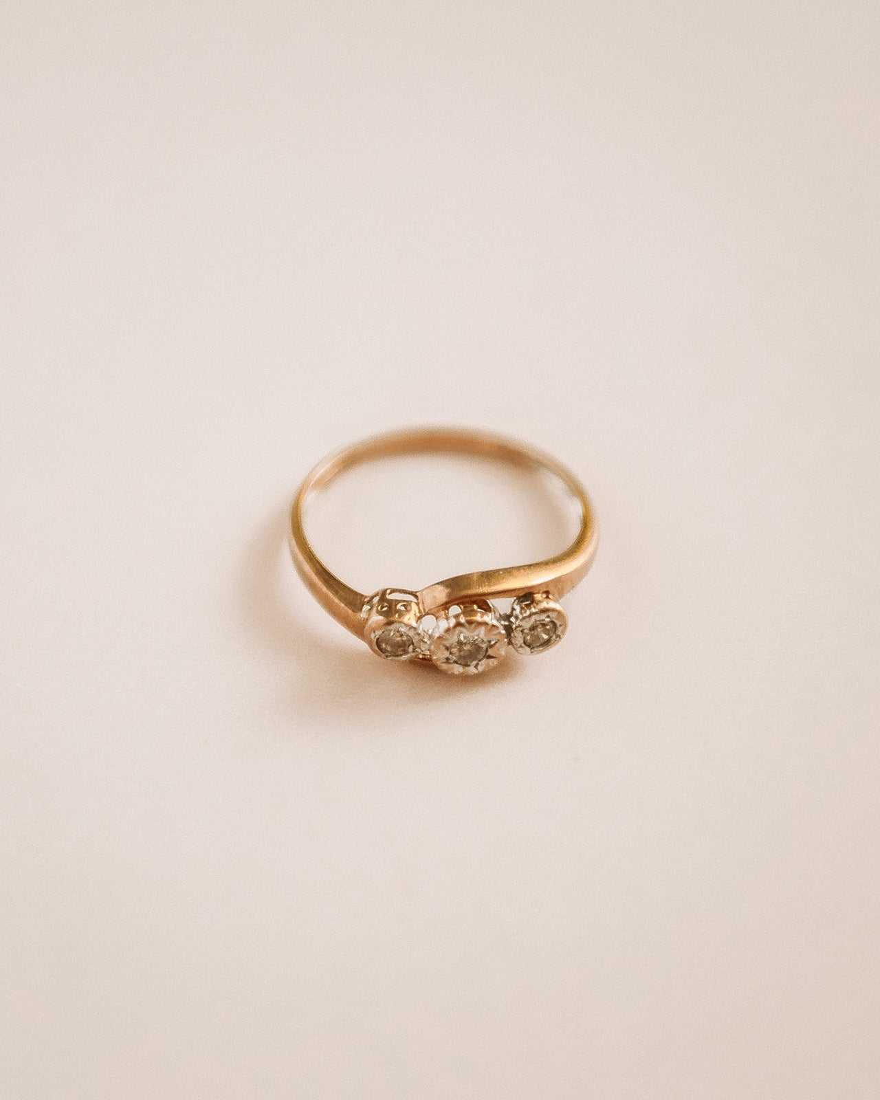 Image of Meredith 9ct Gold Diamond Trilogy Ring
