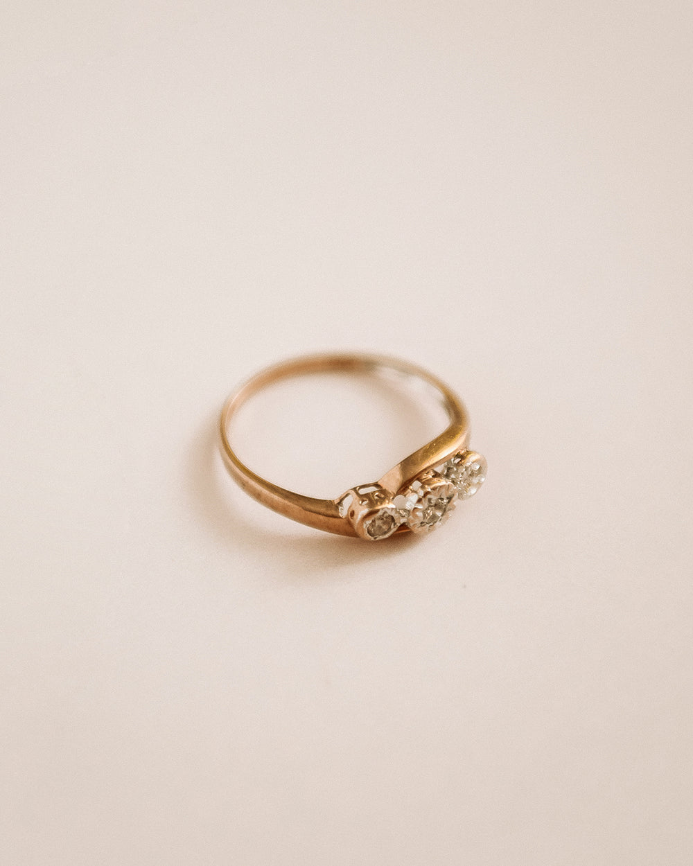 Meredith 9ct Gold Diamond Trilogy Ring