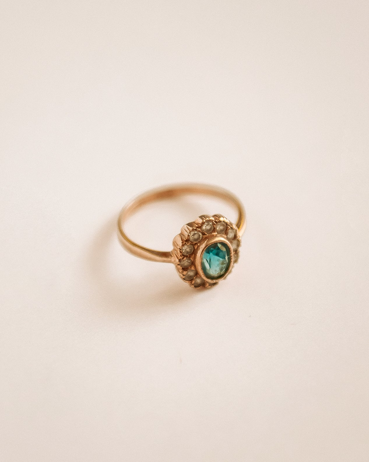 Oralie 9ct Gold Blue Topaz Ring