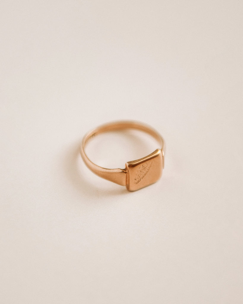 Penny 9ct Gold Signet Ring