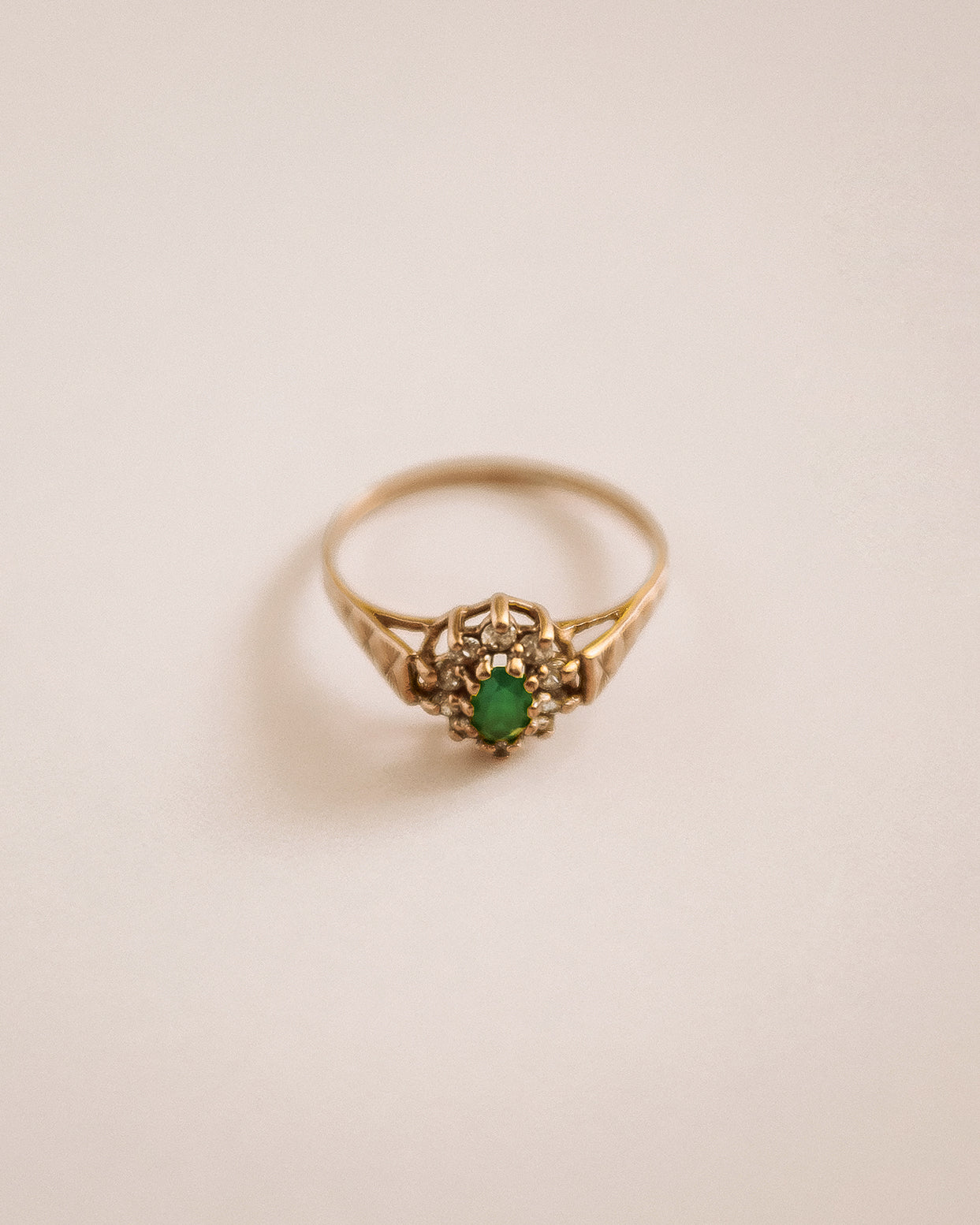 Image of Marlene 9ct Gold Emerald Ring