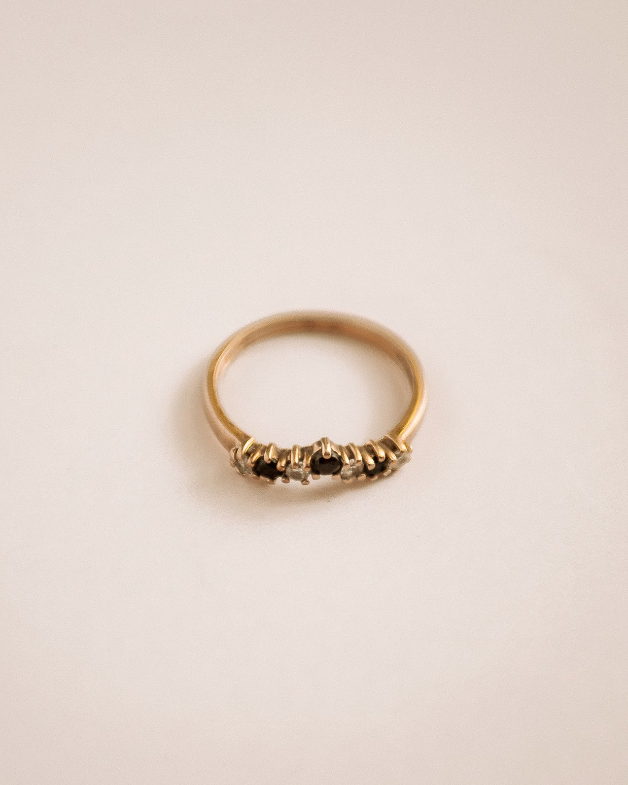 Frances 9ct Gold Sapphire Wishbone Ring