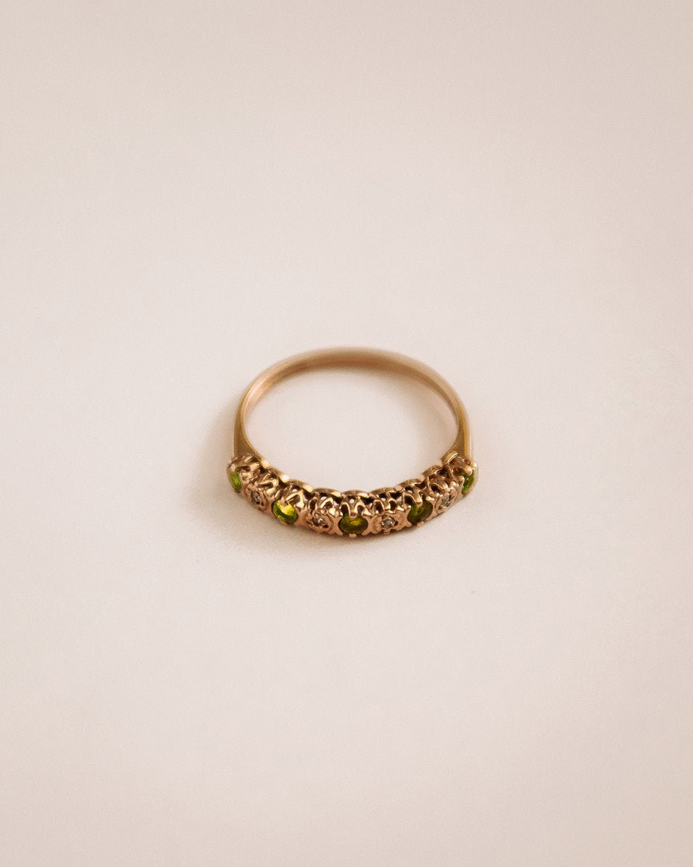 Joy 9ct Gold Emerald & Diamond Ring