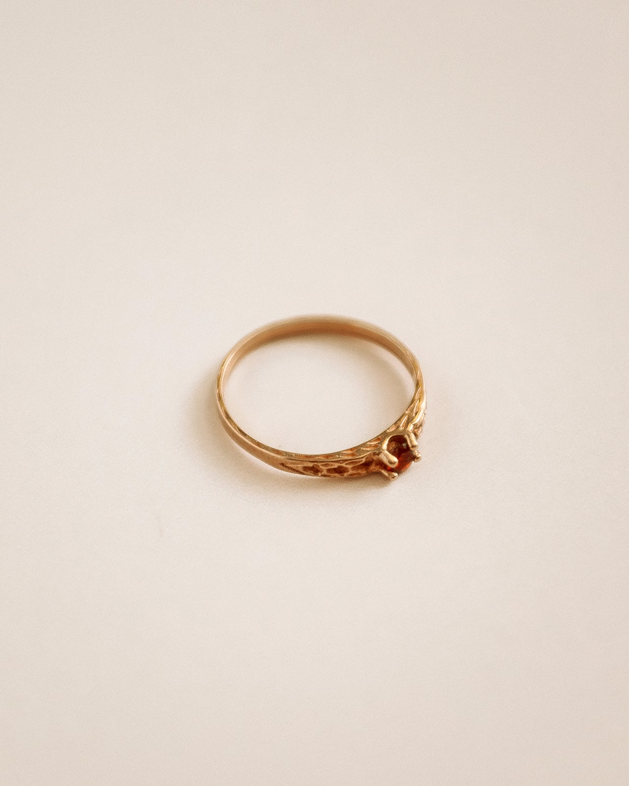 Virginia 9ct Gold Garnet Ring