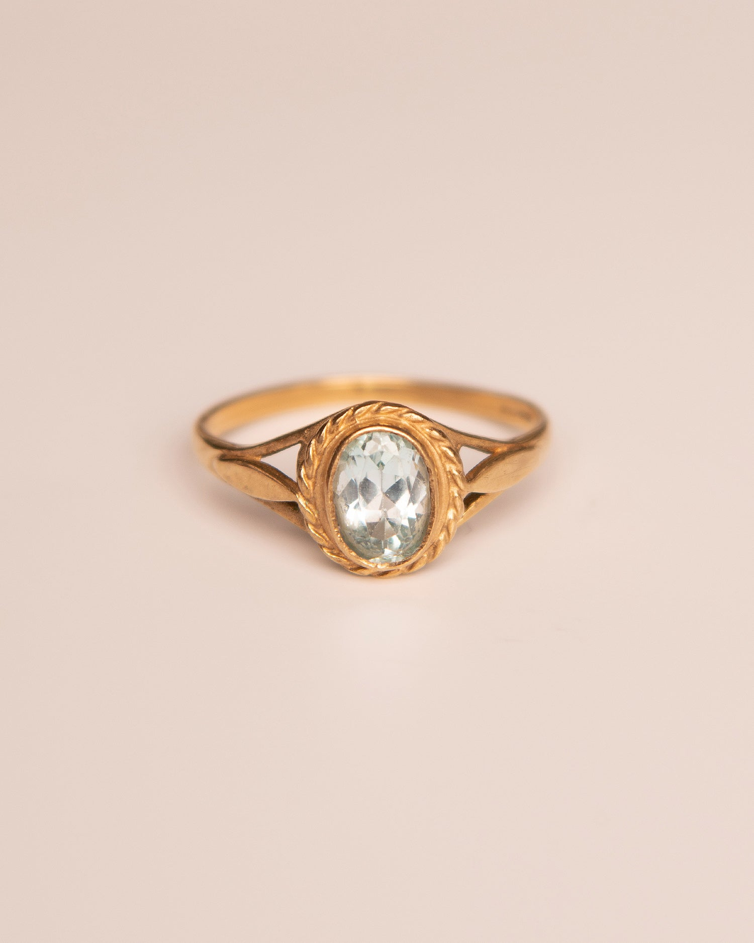 Delphine 9ct Gold Vintage Blue Topaz Ring