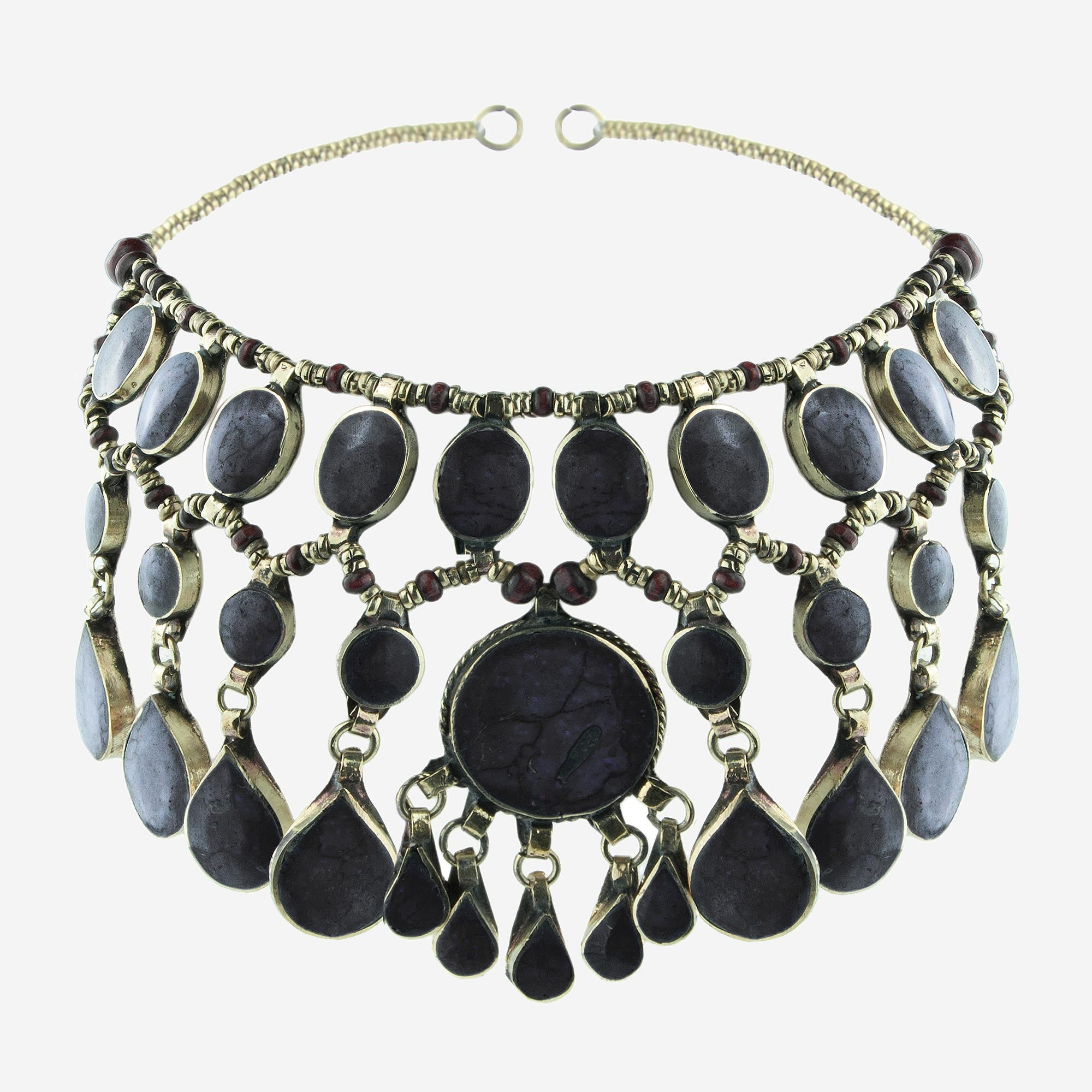 Image of EVANGELINE Black Jade Gemstone Headdress