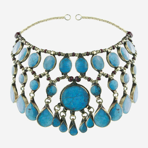 EVANGELINE Turquoise Gemstone Headdress