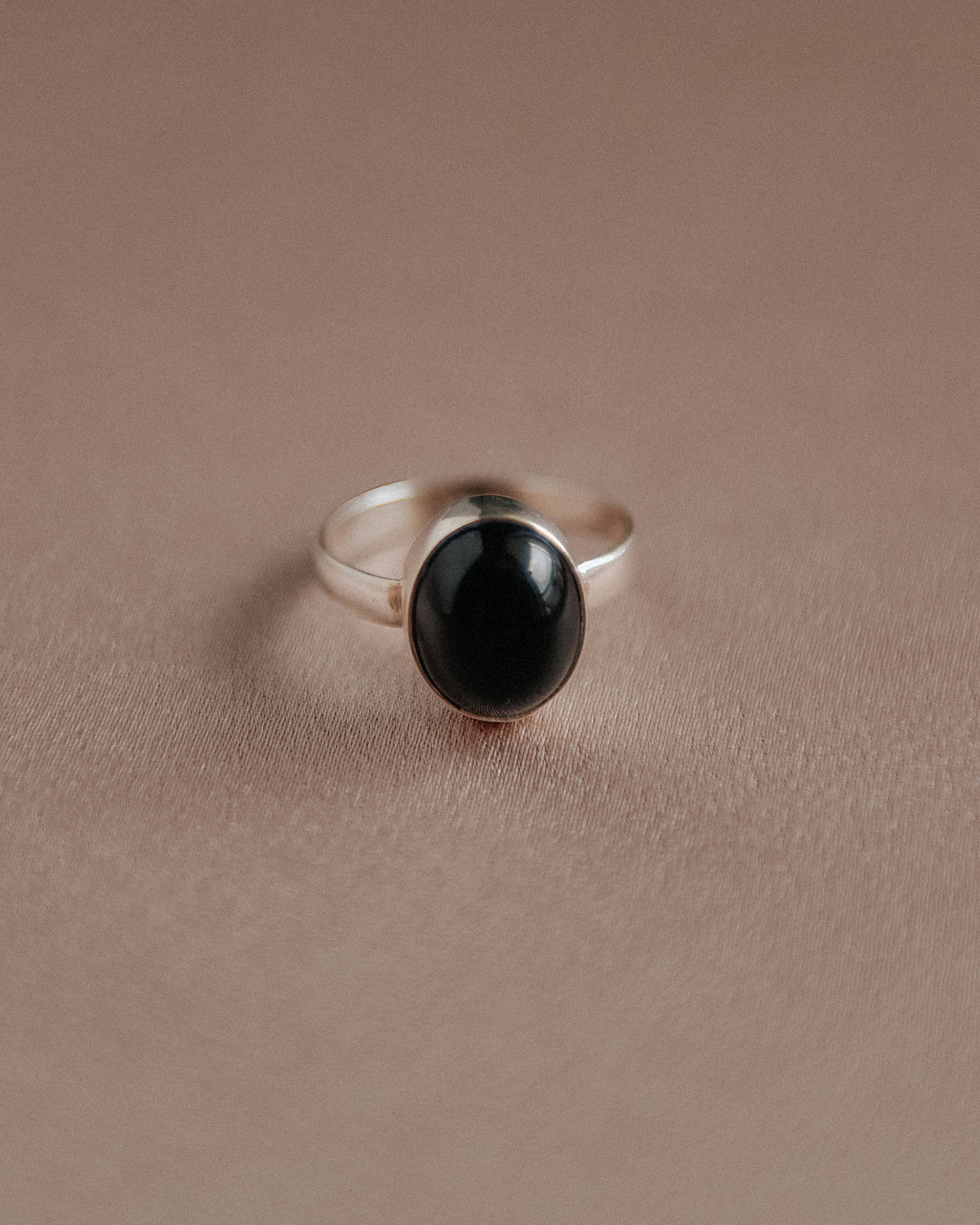 Ebba Sterling Silver Gemstone Ring - Black Onyx