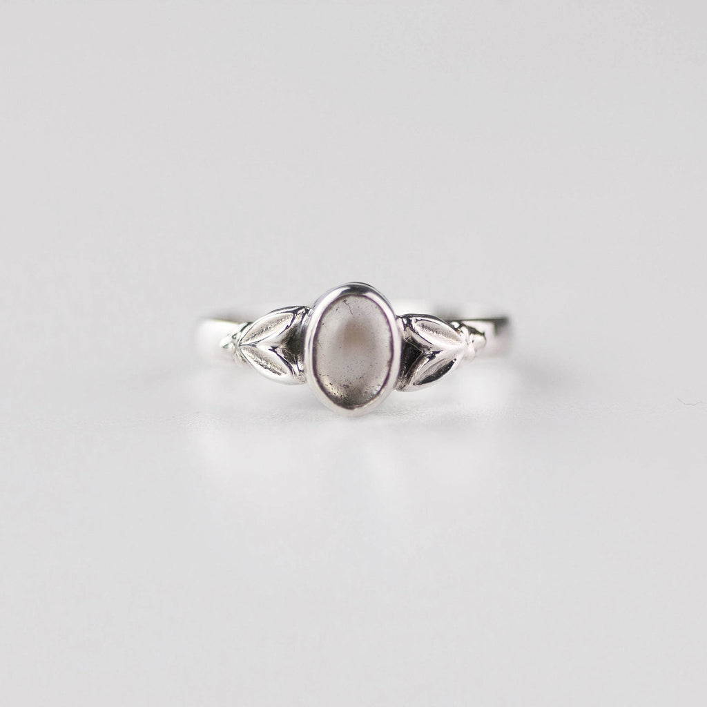 Edie Clear Quartz April Birthstone Ring