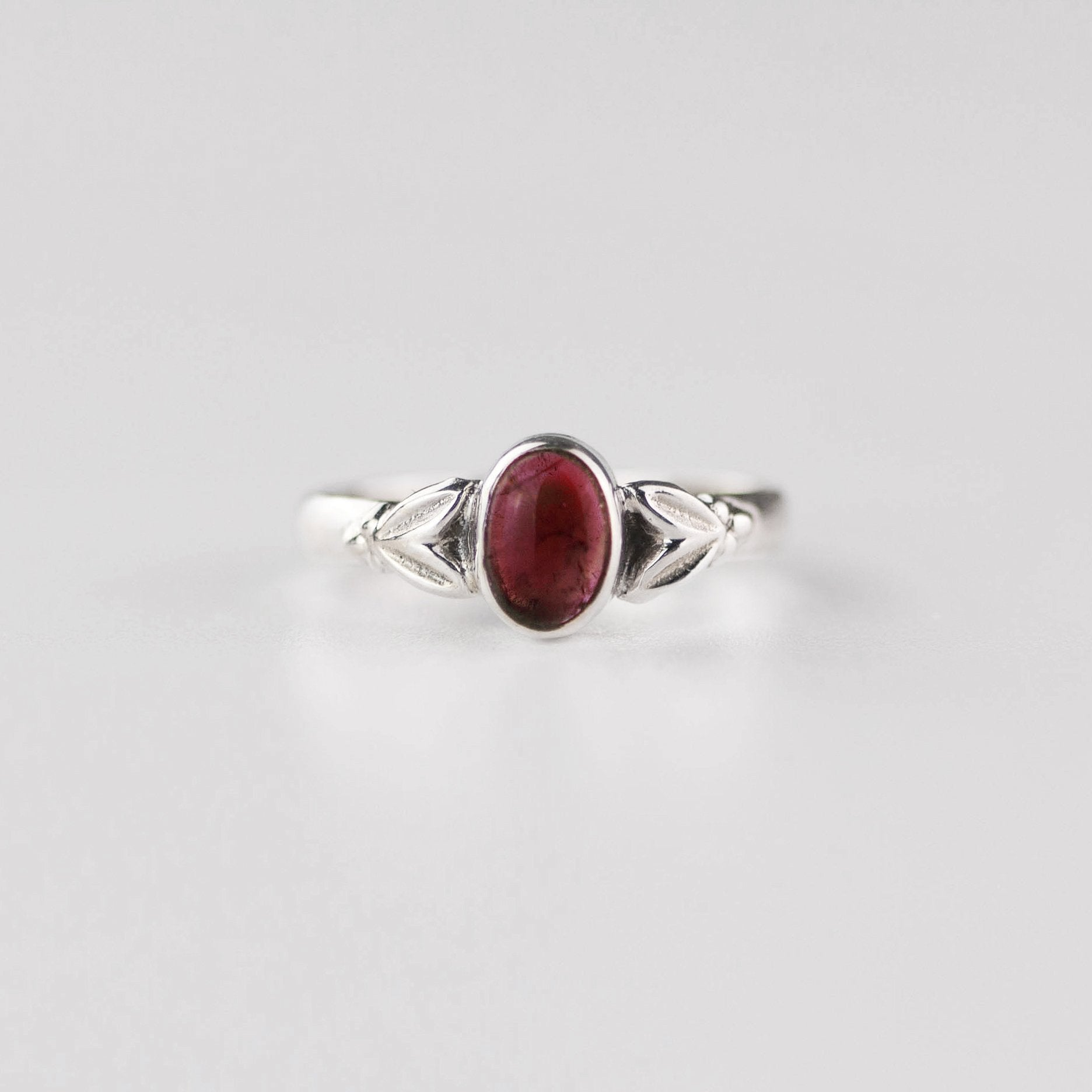 Edie Garnet January Birthstone Ring